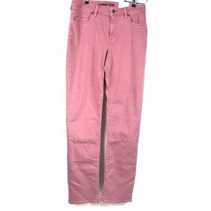 Lands End Straight Leg Pink Denim Jeans Dusty Pink